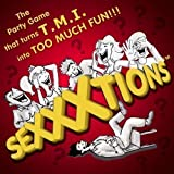 SEXXXTIONS is the hilarious adult party game where answering sexual questions about yourself or your lover takes Too Much Information (TMI) to a whole new level of Too Much Fun!!! What makes this game so hilariously fun is that each player can play to their own comfort level: players can answer honestly if they are comfortable doing so or they can make up their answers and make them silly, outrageous or super naughty!! You only have to claim your answer if they guess you correctly! Each player is in a race to correctly guess who wrote each answer. Players receive extra points when they land on Boner Points and get to challenge one other player of their choice to match their answer. The first player to reach Climax (not literally, it's the last space on the board) wins! Game play can continue until the last person is able to reach Climax - that is, if your party has the stamina to last that long. Contents of the Game include: 1 Game Board, 80 Sexxxtions Cards, 50 Boner Points Cards, 8 TMI Cards, 8 Dry Erase Answer Boards, 8 Dry Erase Markers, 8 Game Tokens