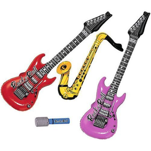 Inflatable Rock Band Instrument Assortment (4 pc)