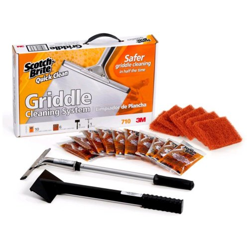 New 3M Scotch-Brite Quick Clean Griddle System Starter Kit - Kit = 22