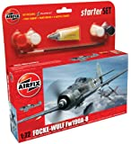 Airfix 1:72 Focke Wulf 190A-A Starter Aircraft Model Set (Small)