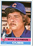 1976 Topps #34 Mike Garman Chicago Cubs Baseball Card In a Protective Screwdown Display Case