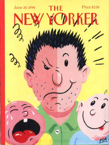 New Yorker Cover Ha 2-Faced Dad & Babies 6/20 1994 front-1046343