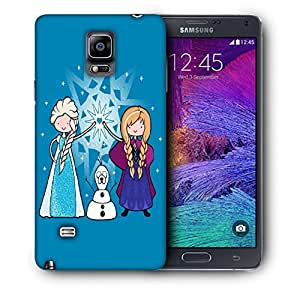Snoogg Two Girls Designer Protective Back Case Cover For SAMSUNG Galaxy NOTE 4