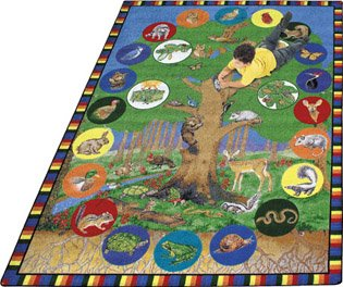Tree of Life Rug - 5.33 Foot x 7.67 Foot Rectangle
