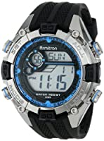 Armitron Men's 40/8300BLU Sport Blue and Silver-Tone Accented Black Resin Strap Chronograph Digital Sport Watch by Armitron