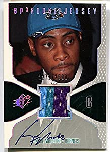 2000-01 SPx JAMAAL MAGLOIRE Auto 3 Color Jersey Patch Rare RC SP 2500 - Upper Deck Certified - NBA Slabbed Autographed Cards