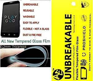 AE TEMPERED FILM GLASS 0.2mm UNBREAKABLE REUSABLE SCREEN PROTECTOR Film Guard for ASUS ZENFONE 2 LAZER 5.5 INCH