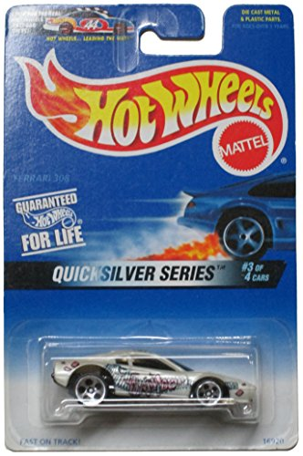 Hot Wheels 1997 #547 Ferrari 308 White QuickSilver Series 3 of 4 1:64 Scale