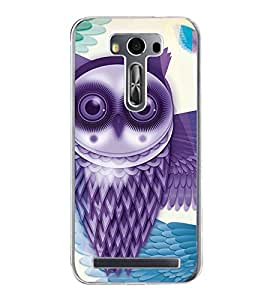Purple Owl 2D Hard Polycarbonate Designer Back Case Cover for Asus Zenfone Selfie ZD551KL