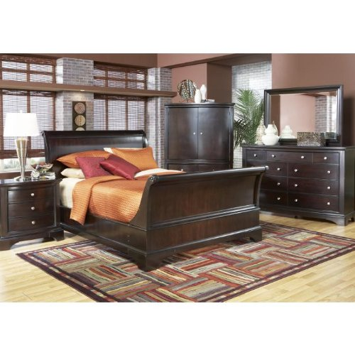 Bedroom Sets Furniture Whitmore Sleigh 8 Pc King Bedroom
