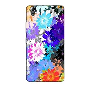 FLORAL ABSTRACT BACK COVER FOR LENOVO A6000