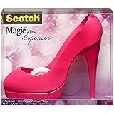 Scotch PShoe810 Pinker Handabroller in Schuh-Form (inkl. 1 Rolle Klebeband, 8.9 m x 19 m) rosa