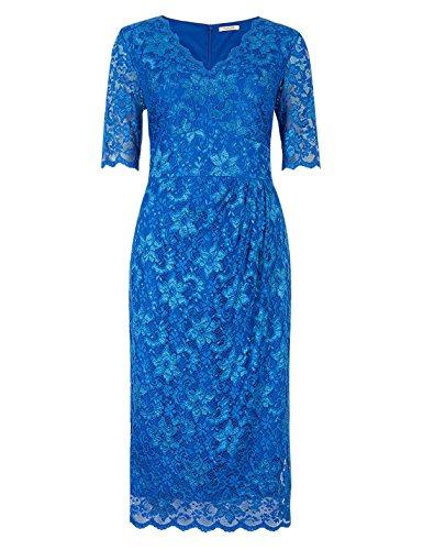 ex-marks-spencer-damen-kleid-geblumt-blau-blau-gr-34-kobaltblau