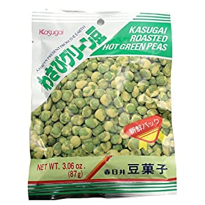 Kasugai Roasted Hot Green Wasabi Peas 3.6 Oz from Kasugai