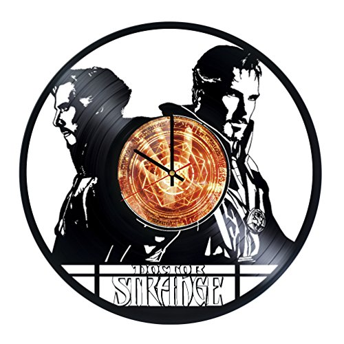 [Doctor Strange Handmade Vinyl Record Wall Clock Fun gift Vintage Unique Home decor Art Design] (Dr Strange Modern Costume)