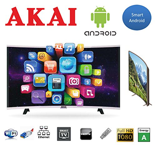 "AKAI TV LED 43"" FHD CURVED DIGITALE TERRESTRE DVB-T2 SMART TV WI-FI"
