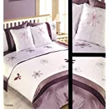Matching Bedrooms 6PC Tasmin Bed In a Bag Mauve/ Cream King Duvet Set With Matching Pillowcases And Cushion Coversby Matching Bedrooms Sets...