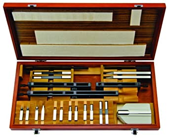 Mitutoyo 516-601, Rectangular Gage Block Accessories Set, Metric, 22 Pieces