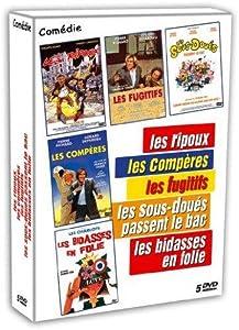 coffret comédie 5 dvd ripoux/compères/fugitifs/sousdoués passent le bac bidasses en folie