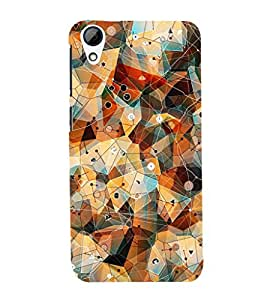 GADGET LOOKS PRINTED BACK COVER FOR HTC DESIRE 728 MULTICOLOR