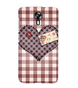 Decorative Heart Design Cute Fashion 3D Hard Polycarbonate Designer Back Case Cover for Micromax Canvas Xpress 2 E313