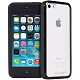 Fosmon HYBO-BUMPER Series PC + TPU Case for Apple iPhone 5C (Black)