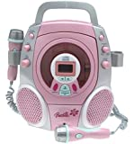 Barbie Stereo CD Karaoke Machine with Two Sing Along Micropones