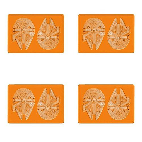 4-Pack of Star Wars Millennium Falcon Silicone Ice Trays / Chocolate or Jello Molds