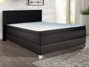 boxspringbett polsterbett boxspringbetten mit federkern matratzen und topper betten king size. Black Bedroom Furniture Sets. Home Design Ideas