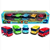 Tayo Little Bus Wind Up Toys, 5 Pieces (Tayo, Rogi, Gani, Rani, and Cito) (Color: Yellow Red Green Orange Blue)