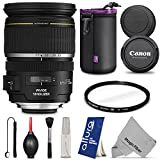 Canon EF-S 17-55mm f 2.8 IS USM Lens for Canon DSLR Camera w Essential Bundle - Includes: Altura Photo UV - Neoprene Lens Pouch - Lens Cap Keeper Holder - Camera Cleaning Set