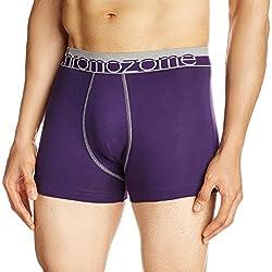 Chromozome Men's Cotton Boxer (8902733342247_WS3_Small_Plum)