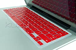 Kuzy - RED Keyboard Silicone Cover Skin for Macbook / Macbook Pro 13