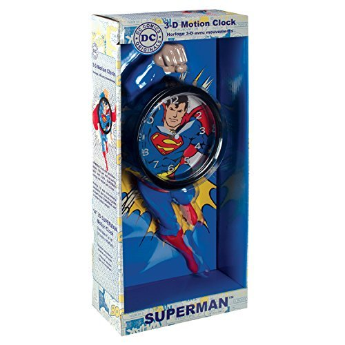 NJ Croce Superman 3D Motion Clock by NJ Croce