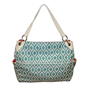buy caught ya lookin 39 chic diaper bag aqua and white triangles online at. Black Bedroom Furniture Sets. Home Design Ideas