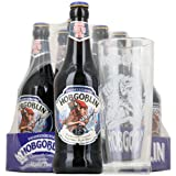 Wychwood Brewery Hobgoblin Ale 8x500ml Case & Pint Glass