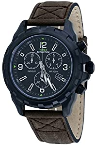 Timex Originals T49986 Mens Brown Expedition Rugged Chronograph Watch
