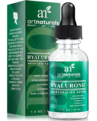 Art Naturals Feuchtigkeitsspendendes Serum 30ml, mit Hyaluronsäure gegen Falten, Altersflecken, Vitamin C, Vitamin E, Verjügende Anti-Aging Hautpflege   klinische Stärke thumbnail