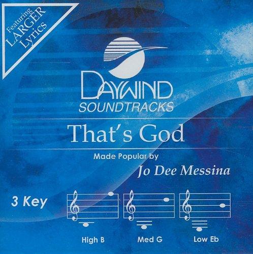 That'S God [Accompaniment/Performance Track] (Daywind Soundtracks)