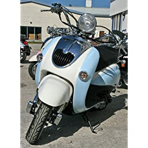 vespa roller retroroller 50ccm motorroller lightblue creme retro scooter znen r05 mofa mokick preis. Black Bedroom Furniture Sets. Home Design Ideas