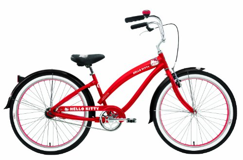 Nirve Retro Kitty Ladies 1 speed Bicycle (Red, 26-Inch)