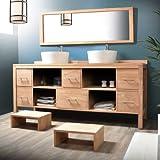 waschtisch waschbeckenschrank badezimmer unterschrank massiv holz teak badm bel. Black Bedroom Furniture Sets. Home Design Ideas