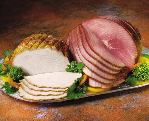 Half Ham and Petite Turkey Breast Combo by Smithfield Hams