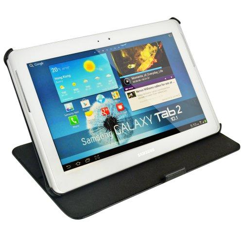 Pregiata custodia protettiva Ultra-Slim per Samsung Galaxy Tab 2 - 10.1 P5110 in EcoPelle Premium con funzione sostegno. Alta lavorazione e ottime rifiniture