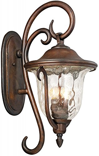 Kalco 9002BB Santa Barbara Outdoor 3-Light Medium Wall Bracket, Burnished Bronze Finish (Santa Barbara Mission Model compare prices)