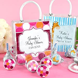 personalized hershey 39 s kisses tote baby shower favors