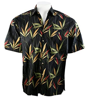 Bamboo cay bamboo garden tropical style black colored for Bamboo button down shirts