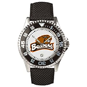 Oregon State Beavers Competitor Mens Watch with Nylon Leather Band by SunTime