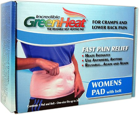 Instant Fast Pain Relief Reusable Heat Pad- Womens Pad With Belt