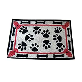 Outdoor Rug Kitchen Mat Hooked Rug Look Nautical Decor 2 ft. x 3 ft. Wipe Your Paws